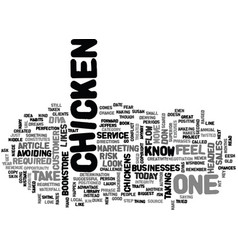 Are you a chicken text word cloud concept vector