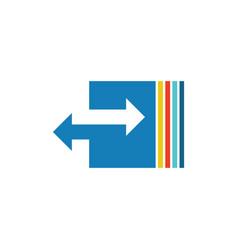 arrow colored logo vector image