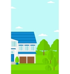 Background of cottage in forest vector image