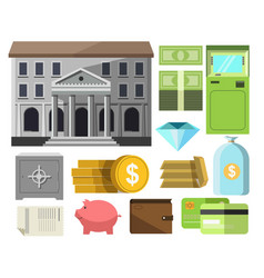 bankmoney preserved in coin and bill cash plastic vector image