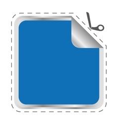 blue frame icon label design graphic vector image