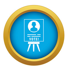 Candidate election stand icon blue isolated vector