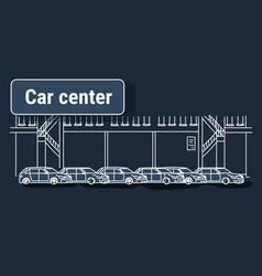 cars dealership center showroom building interior vector image