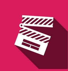Clapper icon vector