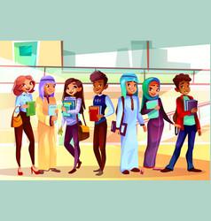 College students nationalities vector