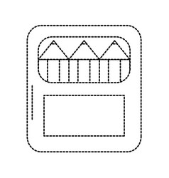 Colored pencils school supplies icon image vector
