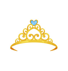 Colorful of golden princess crown vector