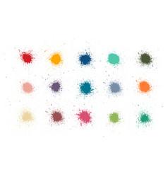 Colorful paint stains set color splatter vector