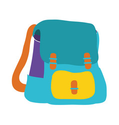 colorful school backpack education object design vector image