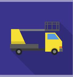 Crane lift truck icon flat style vector