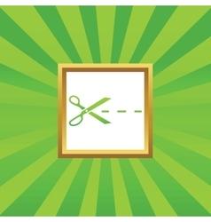 Cut picture icon vector