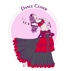 Dance line color tribal belly dance vector