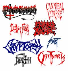 Death metal vector