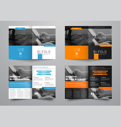Design a bi-fold brochure with a place for photos vector