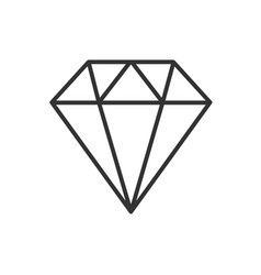 diamond line icon on a white background vector image
