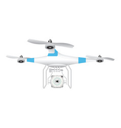 Drone with camera for photography or video vector