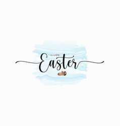 easter watercolor card on white design background vector image