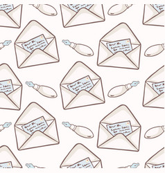 envelope with hand written note card and vector image