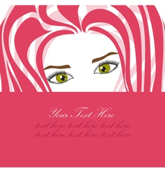 Fashion girl invitation vector