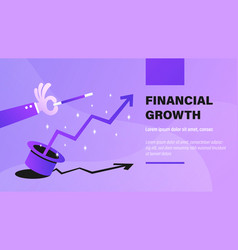 financial growth vector image