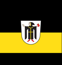Flag of munich is the capital city of the german vector