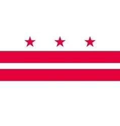Flag of Washington DC correct proportion vector