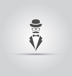 gentleman isolated black icon vector image