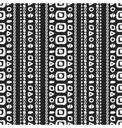 Geometric monochrome seamless pattern vector image