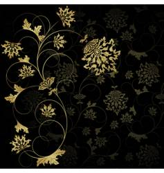 gold flower vector image