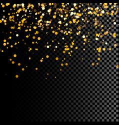 golden glitter vector image