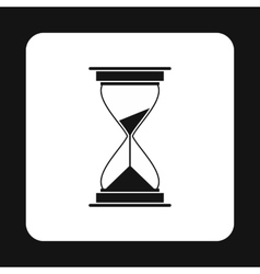 Hourglass icon simple style vector image