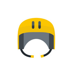 kayak helmet icon flat style vector image