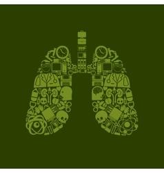 Lung icon vector