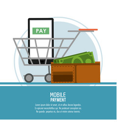Mobile payment technology vector