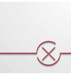 modern red check mark on black vector image