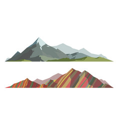 mountain mature silhouette element outdoor icon vector image
