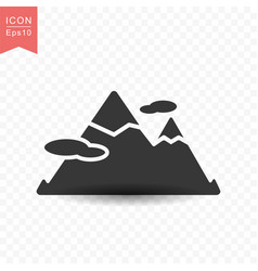 mountain peak icon simple flat style vector image