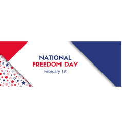 national freedom day february 1 banner vector image