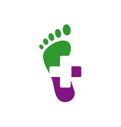 new creative podiatric feet care foot print logo vector image