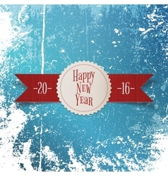 New Year greeting white Label and red Ribbon vector image