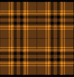 Orange and brown tartan plaid scottish pattern vector
