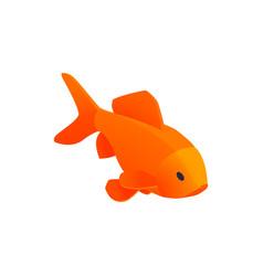 Orange aquarium fish composition vector