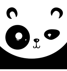 panda card vector image
