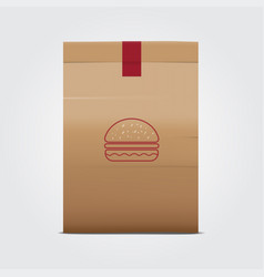paper bag package vector image