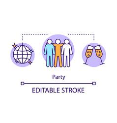 Party concept icon event management idea thin vector