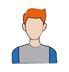 Portrait man young character people image vector