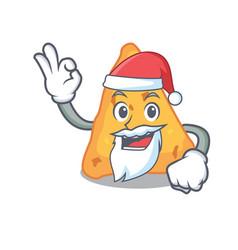 Santa nachos mascot cartoon style vector