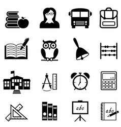 school education and learning web icon set vector image