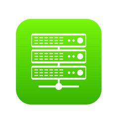 servers icon digital green vector image