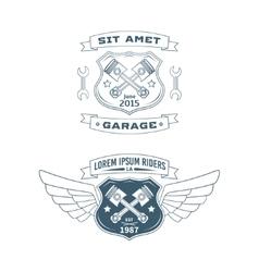 set motor badges vector image
